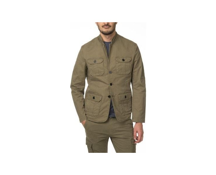 ПИДЖАК DSTREZZED WORKER BLAZER STRETCH TWILL ARMY GREEN фото 1