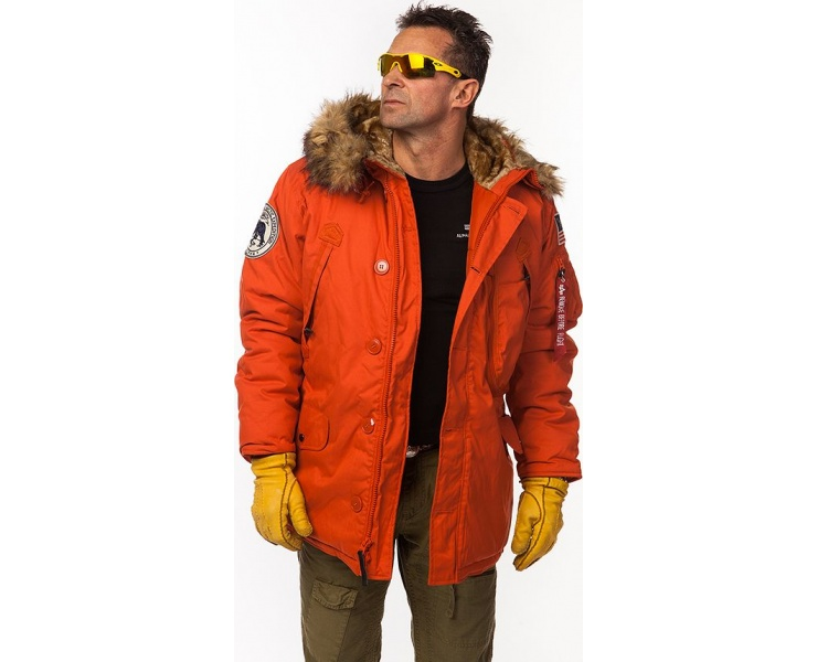КУРТКА ALPHA INDUSTRIES 123144 POLAR JACKET - RED фото 5