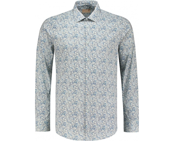 РУБАШКА DSTREZZED MINI PAISLEY LT. STR. POPLIN POWDER BLUE фото 1