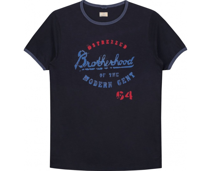ФУТБОЛКА DSTREZZED BROTHERHOOD GRAPHIC TEE SLUB JERSEY DK.NAVY фото 1
