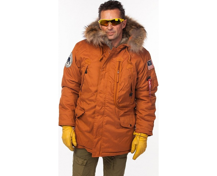 КУРТКА ALPHA INDUSTRIES 123145 POLAR JACKET RF - ORANGE фото 1