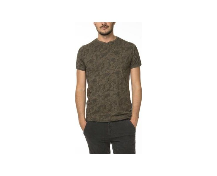 ФУТБОЛКА DSTREZZED GRANDDAD S/S LACE PRINT SINGLE ARMY GREEN фото 1