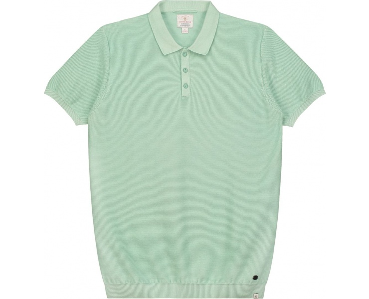 ПОЛО DSTREZZED POLO S/S ACID STRIPE LT.GREEN фото 1