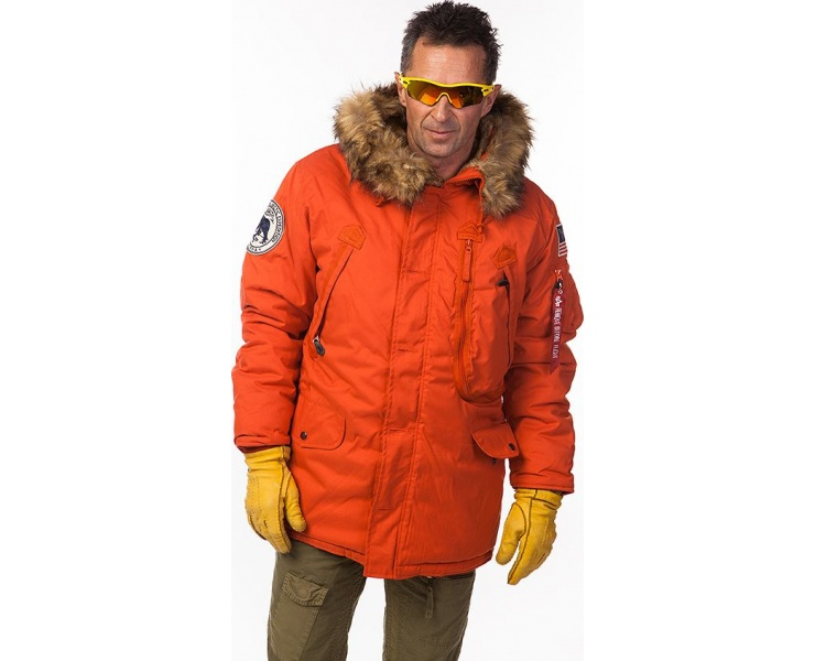 КУРТКА ALPHA INDUSTRIES 123144 POLAR JACKET - RED фото 3