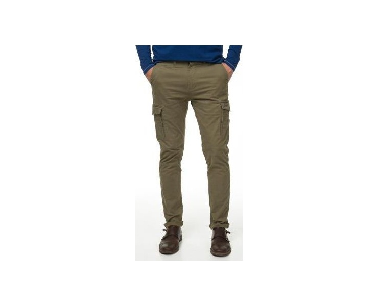 БРЮКИ DSTREZZED CARGO SLIM PANTS STRETCH TWILL ARMY GREEN фото 1
