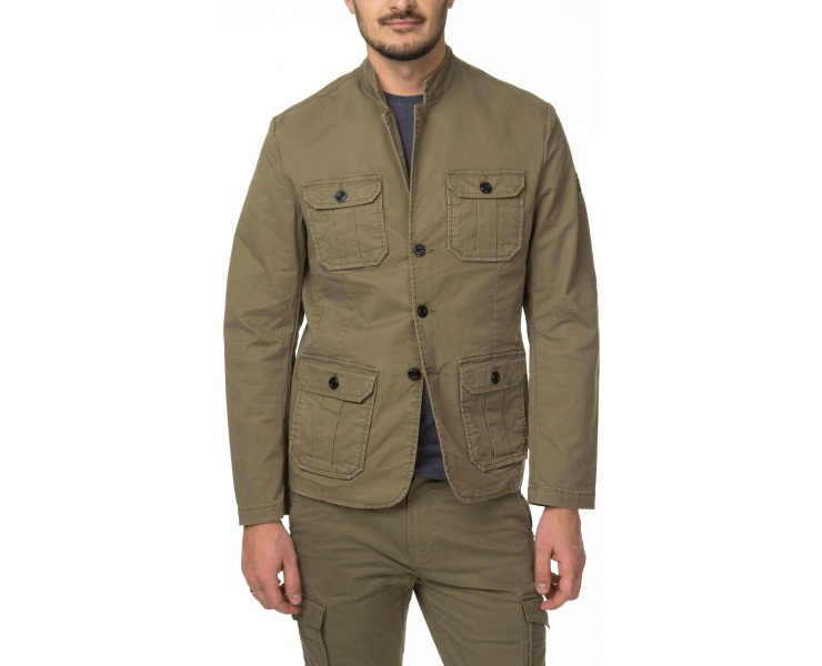 ПИДЖАК DSTREZZED WORKER BLAZER STRETCH TWILL ARMY GREEN фото 4
