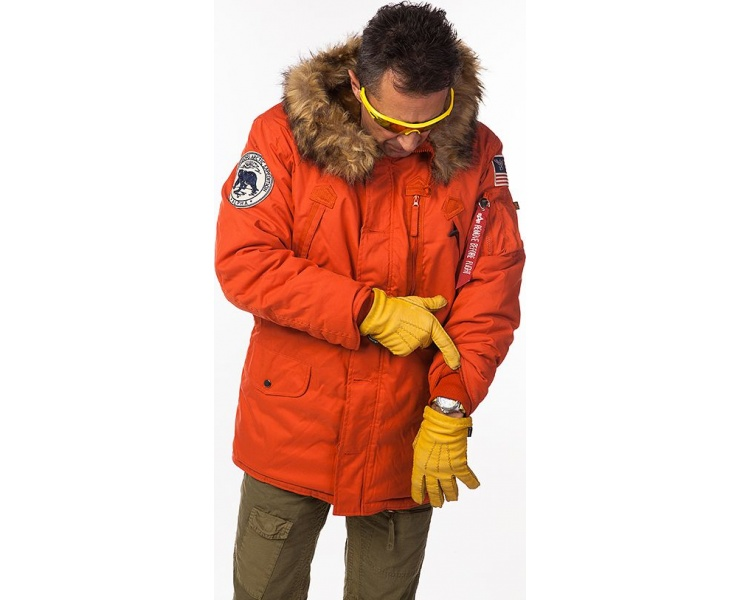 КУРТКА ALPHA INDUSTRIES 123144 POLAR JACKET - RED фото 4