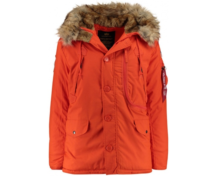 КУРТКА ALPHA INDUSTRIES 123144 POLAR JACKET - RED фото 1