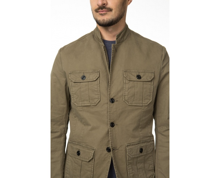 ПИДЖАК DSTREZZED WORKER BLAZER STRETCH TWILL ARMY GREEN фото 3