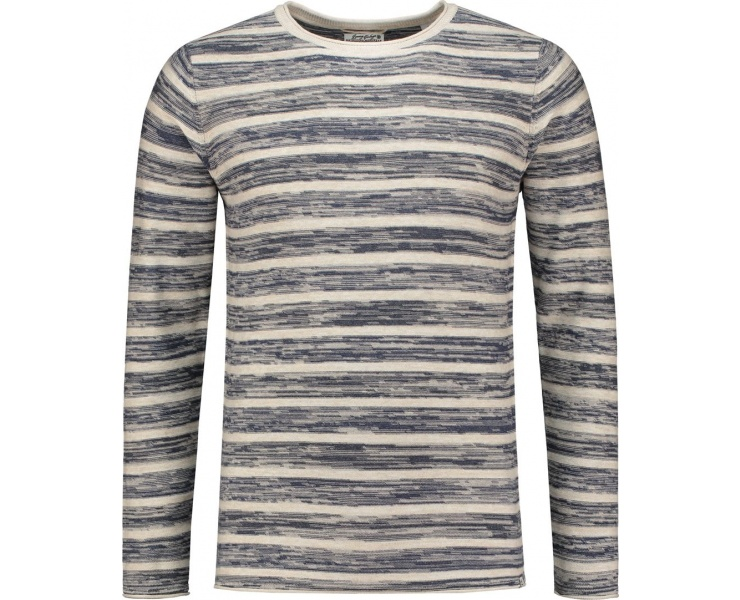 СВИТЕР DSTREZZED CREW STONEY STRIPES MELANGE COTTON SAND фото 1