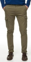 БРЮКИ DSTREZZED CARGO SLIM PANTS STRETCH TWILL ARMY GREEN