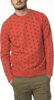 ТОЛСТОВКА DSTREZZED TRIANGLE DOT PRINT CLEAN SWEAT CORAL
