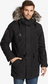 ПАРКА KHUJO UNKAR SOLID WITH FUR - BLACK