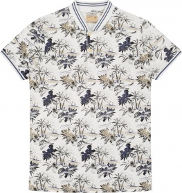 ПОЛО DSTREZZED BASEBALL POLO S/S HAWAII STRETCH PIQUE WHITE