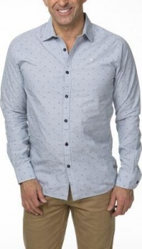 РУБАШКА DSTREZZED SHIRT DOT JAQUARD RAF BLUE