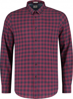 РУБАШКА DSTREZZED TONAL BLACK CHECK LT. PEACH TWILL Port Red