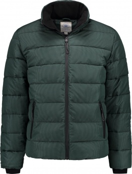 КУРТКА DSTREZZED PUFFER JACKET SEERSUCKER BAKERY CHECK DK.GREEN