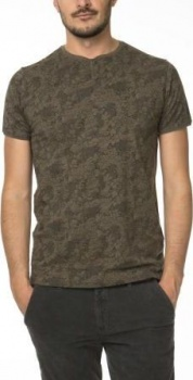 ФУТБОЛКА DSTREZZED GRANDDAD S/S LACE PRINT SINGLE ARMY GREEN