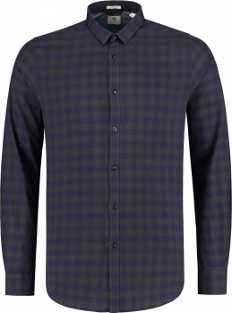РУБАШКА DSTREZZED TONAL BLACK CHECK LT. PEACH TWILL DK.NAVY