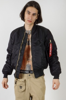 КУРТКА ALPHA INDUSTRIES 100101 MA-1 BLACK