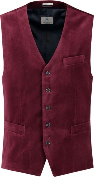ЖИЛЕТ DSTREZZED GILET WASHED VELOUR PORT RED