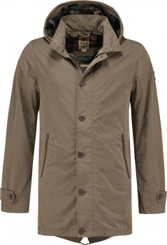 ПАРКА DSTREZZED PARKA MICRO NYLON BROWN